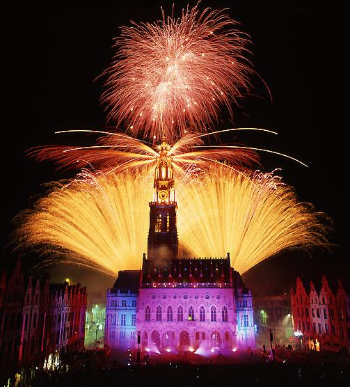 Arras belfry fireworks