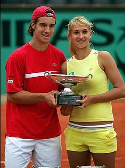 Tatiana Golovin and Richard Gasquet at French Open