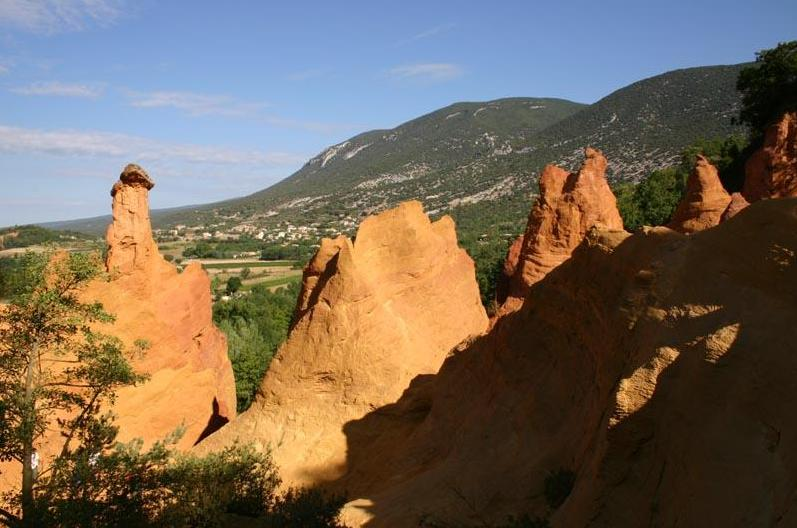 The French Colorado of Rustrel -Provence region