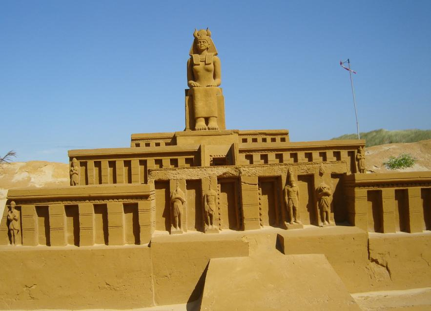 Sand sculptures at Le Touquet