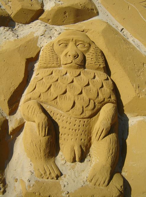 Sand sculptures at Le Touquet