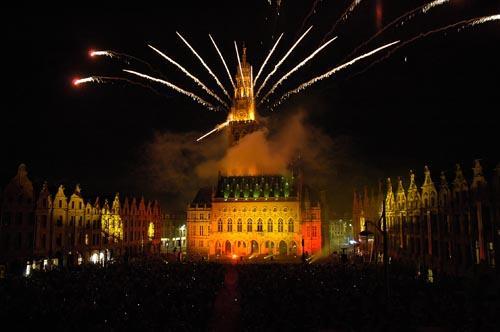 Arras' belfry fireworks