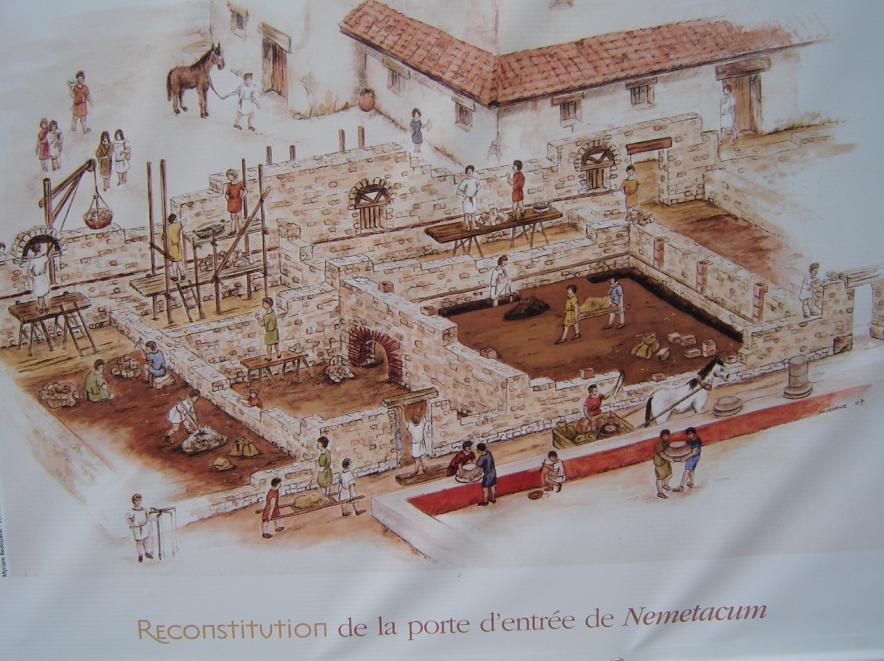 Arras' archaeological site