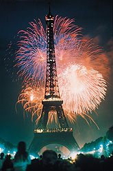 Eiffel Tower fireworks France July 14th