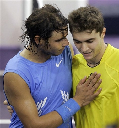 Rafael Nadal and Gill Simon Masters series Madrid tennis