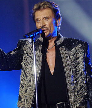 Johnny Hallyday famous French singer